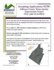 Financial Assistance for Septic Pump-outs and Livestock Exclusion, Accepting Applications Now!