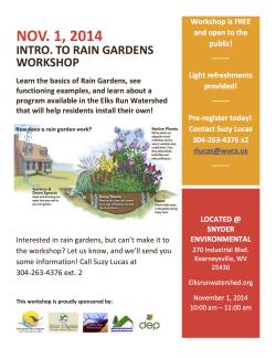 Rain garden Workshop!
